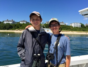 Alex and I on a Mini Pelagic off of Chatham, Mass